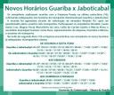 Atenção para os novos horários do transporte intermunicipal Guariba x Jaboticabal