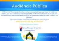 """Audiência pública relacionada a """"Chácara dos Louzadas"""""""