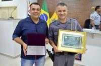 Câmara homenageia Policial Militar destaque do ano de 2018 Adriano Frediani e concede homenagem ao PM inativo 2º. Sargento Ribas