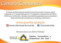 convite 11ª Sessão Ordinária