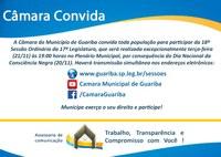 Convite 18ª Sessão Ordinária
