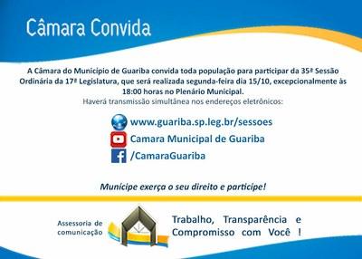 Convite 35ª Sessão Ordinária