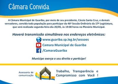 Convite 46ª. Sessão Ordinária