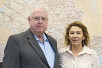 Em viagem à São Paulo, vereadora Márcia Alves protocola pedido de R$ 280 mil para Santa Casa de Guariba com deputados Barros Munhoz e Roberto Engler