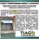 """Letreiro """"Estádio Domingos Baldan"""" é recolocado"""