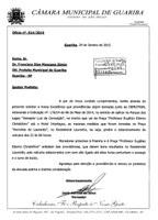 Ofício do vereador Jânio da São Carlos à Prefeitura