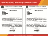 Ofício vereador Jânio da São Carlos