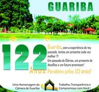 Parabéns Guariba pelos 122 anos!