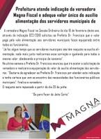Prefeitura atende indicação da vereadora Magna Fiscal e adequa valor único do auxílio alimentação dos servidores municipais de Guariba