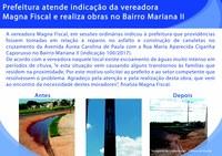 Prefeitura atende indicação da vereadora Magna Fiscal e realiza obras no Bairro Mariana II