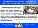 Reunião para tratar assuntos relacionados à Santa Casa de Guariba e Prefeitura Municipal
