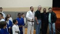 Vereador Juninho Leite faz visita à escolinha de Judô