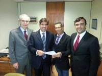 Vereador Zé Carioca, Prefeito Dr. Francisco e Secretários Municipais estiveram em Brasília representando município
