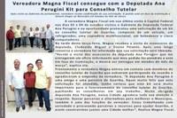Vereadora Magna Fiscal consegue com a Deputada Ana Perugini Kit para Conselho Tutelar