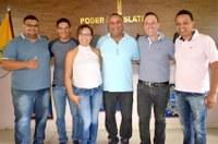 Vereadora Magna Fiscal recebe visita de representantes do PROS