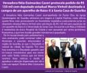 Vereadora Néia Guimarães Caseri protocola pedido de R$ 150 mil com deputado estadual Marco Vinholi destinado à compra de um aparelho de Raios-X à Santa Casa de Guariba