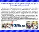Vereadores realizam reunião para adequação do horário de transporte intermunicipal